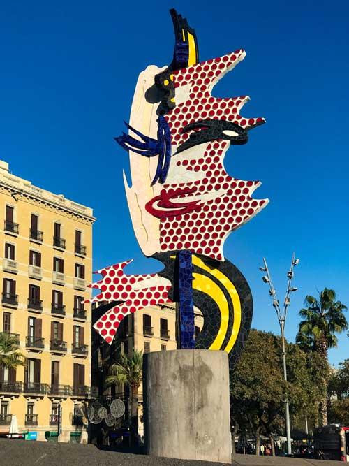 اثری از روی فاکس لیکتنستاین، نقاش و مجسمه ساز آمریکایی
