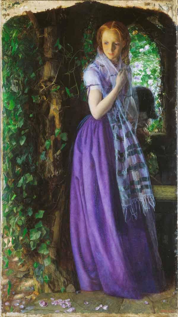 عشق آوریل، نقاشی اثر هنرمند پیشارافائلی، آرتور هیوز