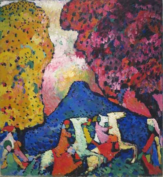 کوه آبی – نقاشی واسیلی کاندینسکی
