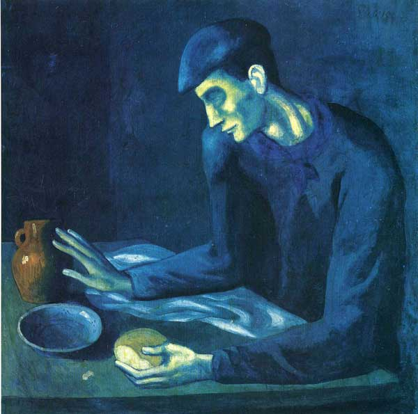 وعده غذایی مرد نابینا پابلو پیکاسو