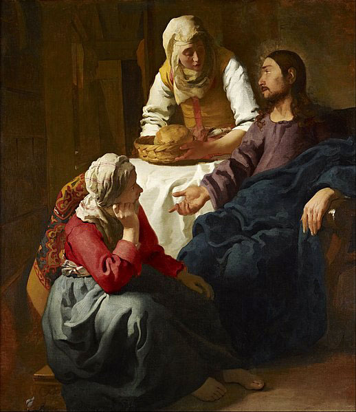 مسیح در خانه ماری و مارتا، اثر ورمیر