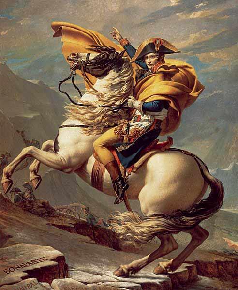 تصویر ناپلئون که توسط داوید نقاشی شده