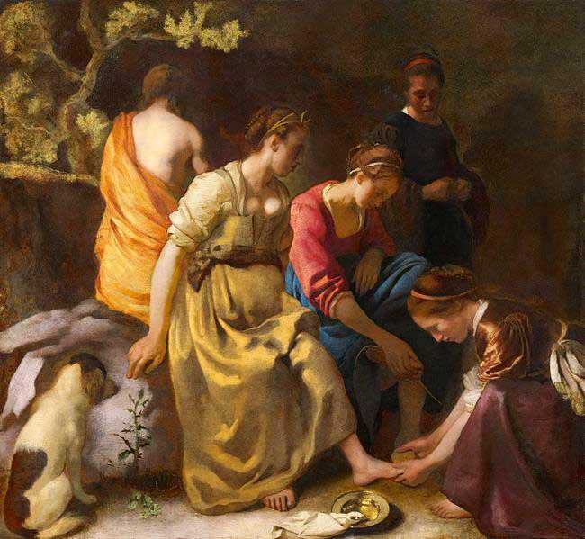 دیانا و اصحاب او – نقاشی ورمیر