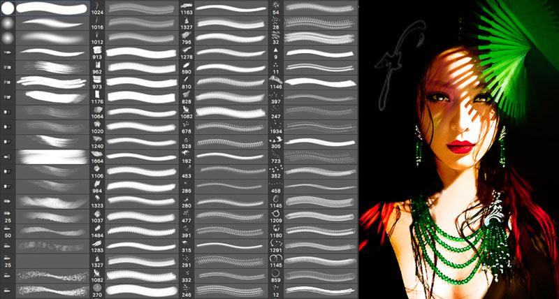 انواع قلم مو در نقاشی دیجیتال