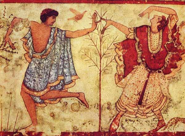 یک نقاشی فرسک مربوط به دوره اتروسکی 470 قبل از میلاد