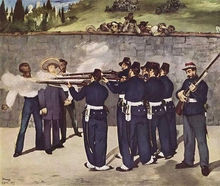 اعدام امپراطور ماکسیمیلیان اثر مانه