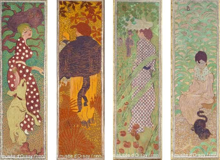 پنج اثر زن در باغ توسط پیِر بونار