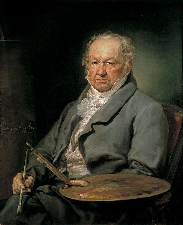 پرتره فرانسیسکو گویا اثر بیثنته لوپِث پورتانیا نقاش اسپانیایی