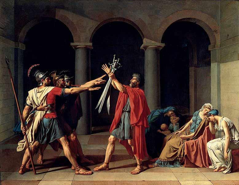 یکی از مشهورترین آثار دوره نئوکلاسیک به نام سوگند هوراتیها اثر ژاک لوئی داوید