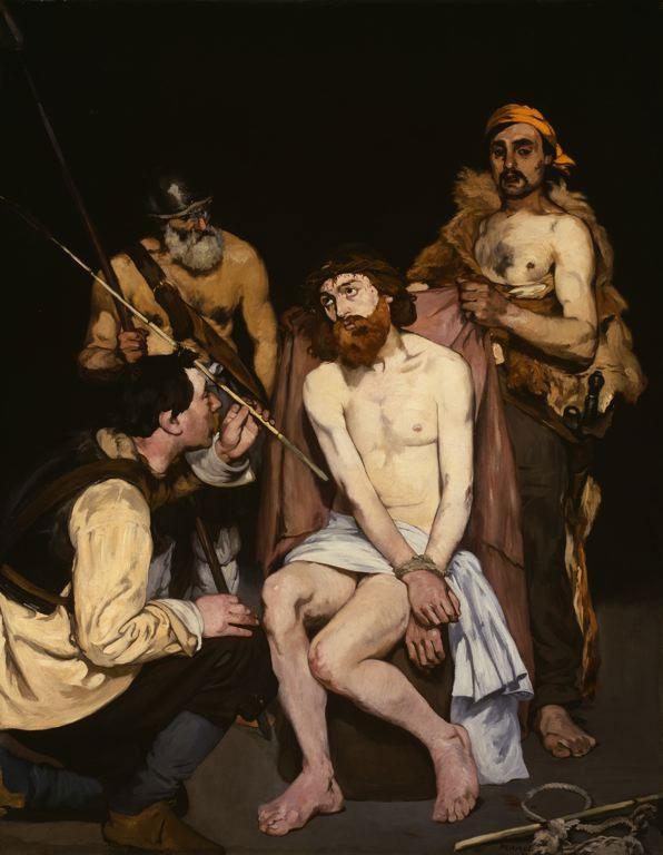 استهزاء مسیح، نقاشی مانه