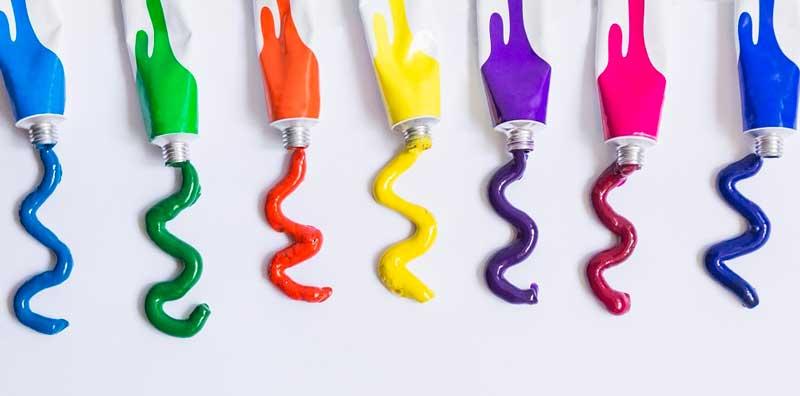 در تولید صنعتی، این رنگها در مقیاس بالا تولید می شوند