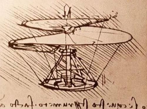 یک نمونه از اسکیس های لئوناردو
