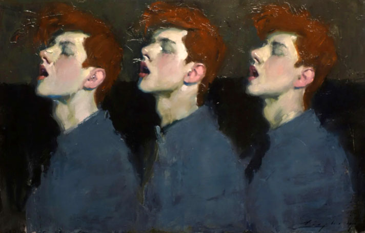 نقاشی دیگری از این هنرمند، یک مرد - چندین صدا