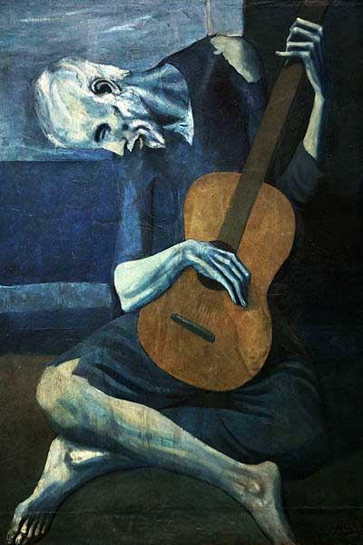 پابلو پیکاسو پیرمرد گیتاریست