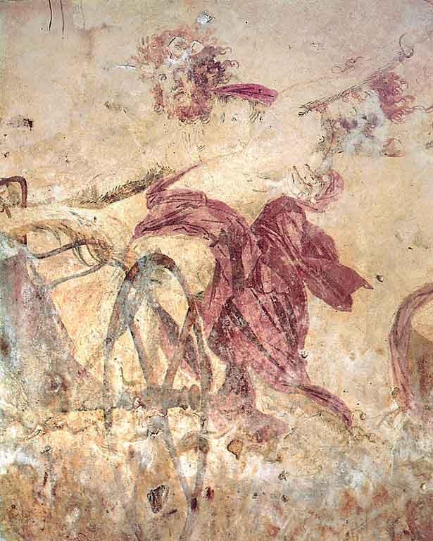 نور پردازی در نقاشی دیواری مربوط به قرن چهارم