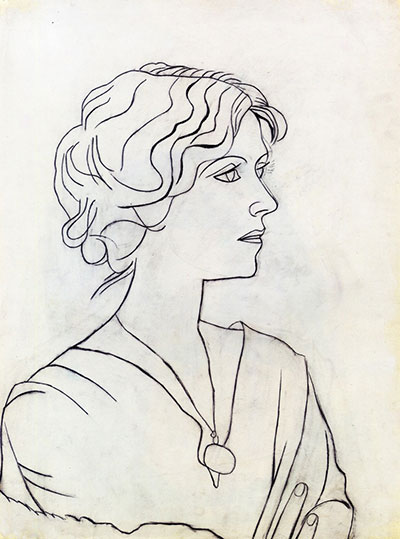 یک اسکیس کروکی از پیکاسو