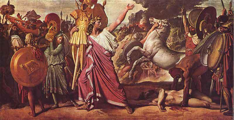 دومینیک انگر - پیروزی روملوس بر آکرون