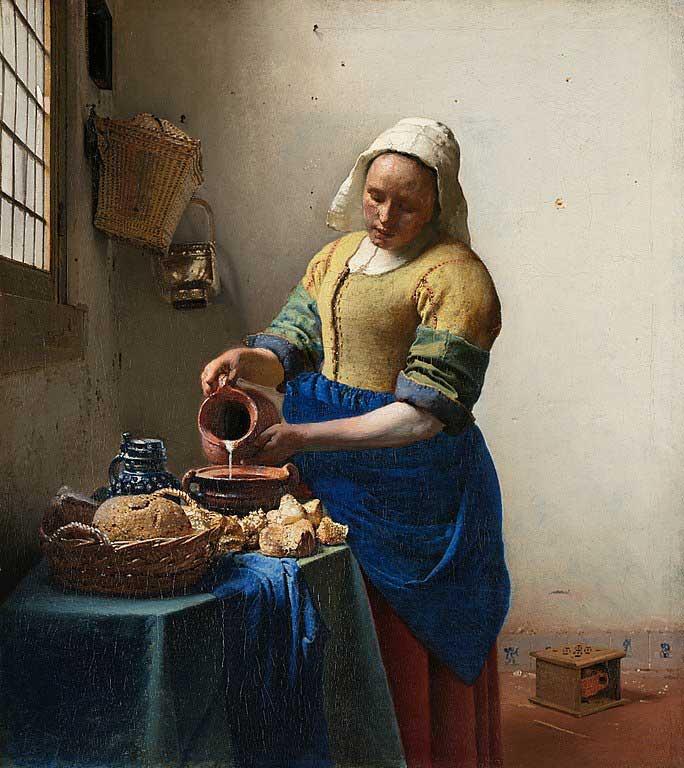 زن شیردوش، اثر یوهانس ورمیر