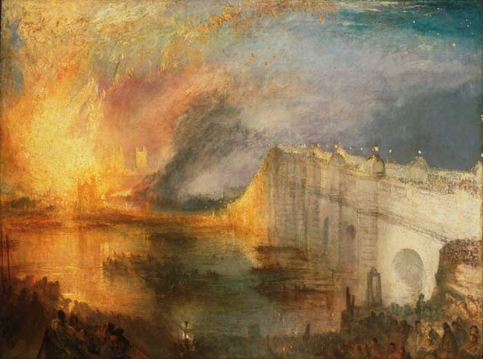 آتش سوزی پارلمان اثر ترنر