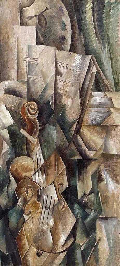 یک نقاشی کوبیسم آنالیتیک بنام ویولون اثر براک