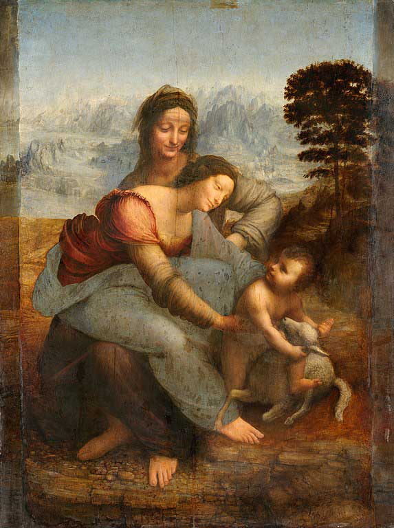 باکره و کودک به همراه حنای قدیس