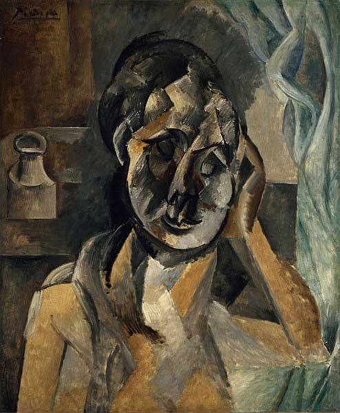 زن با ظرف خردل اثر پیکاسو