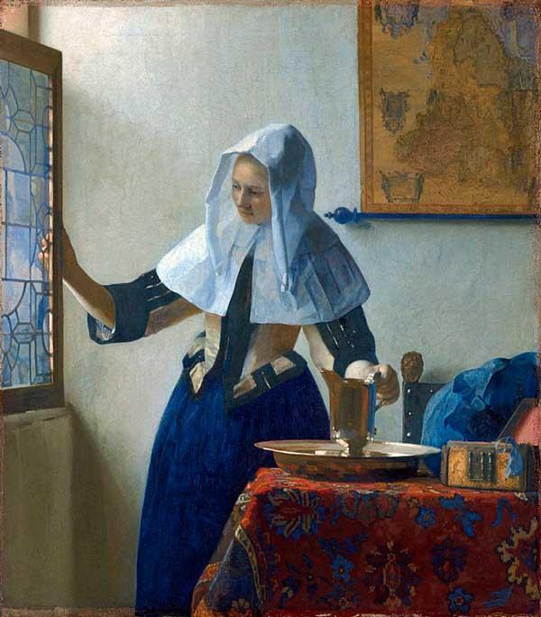 تابلوی زن جوان با پارچ آب، ورمیر