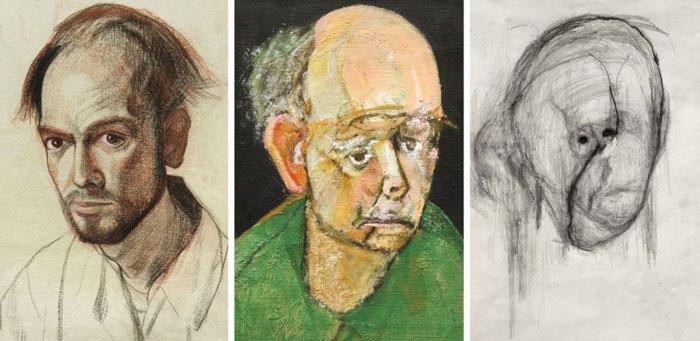 اثر نقاشی یک هنرمند مبتلا به آلزایمر در طول زمان