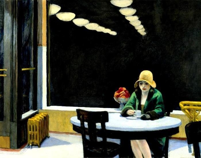 اثر ادوارد هاپر نقاش بزرگ آمریکایی - حس تنهایی