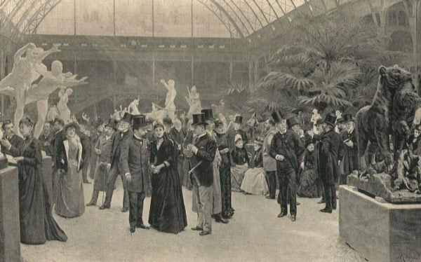 سالن پاریس حدود 1890