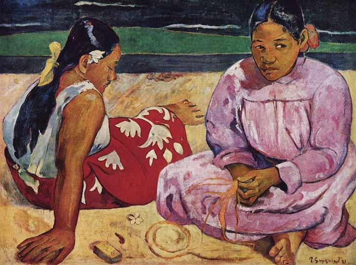 یک اثر از پل گوگن با الهام از فرهنگ بدوی تاهیتی