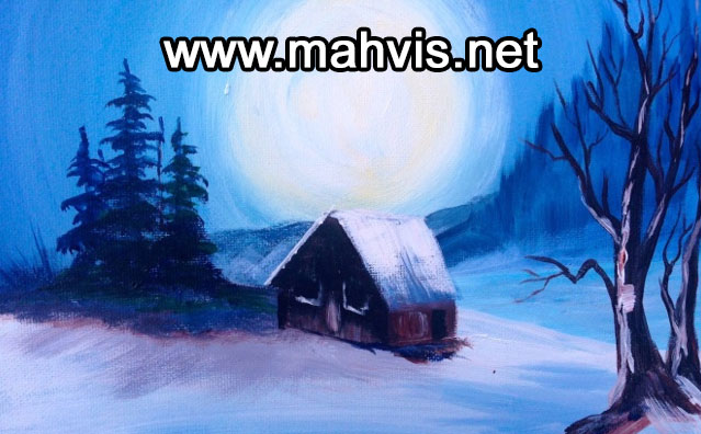 زیر رنگ گرم در نقاشی با رنگهای سرد