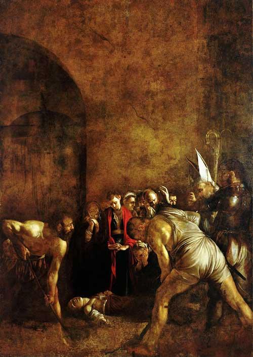دفن سانتا لوچیا، اولین اثر کاراواجو در سیسیل