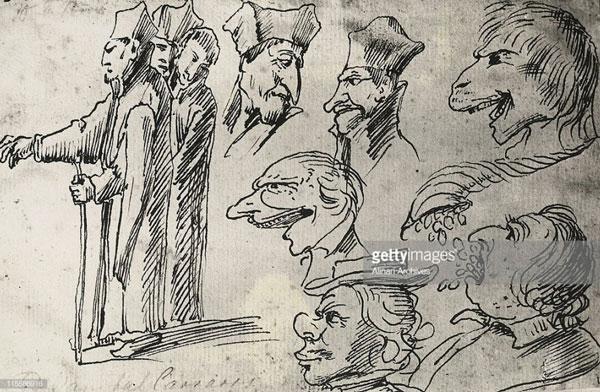 کاریکاتورهای چهره اثر هانیبال کاراچی