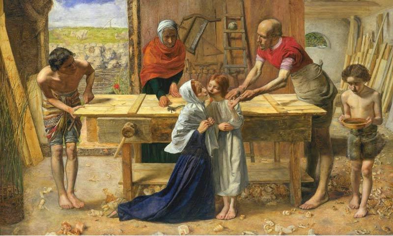 مسیح در خانه پدر و مادرش اثر سِر جان اِوِرِت میلِی