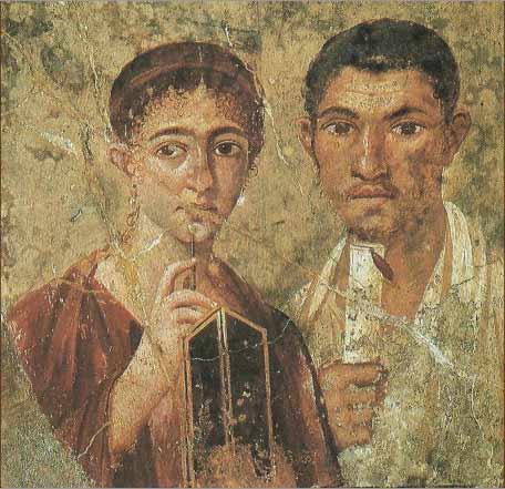 یک نقاشی فرسک مربوط به پمپی