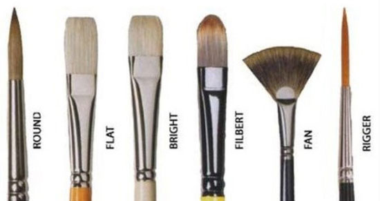 انواع مختلف قلم مو