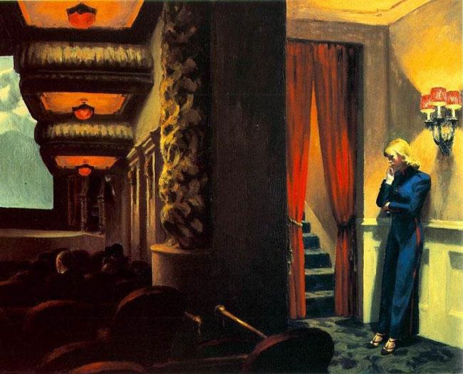 تابلوی نقاشی اثر ادوارد هاپر با عنوان فیلم در نیویورک سال 1939