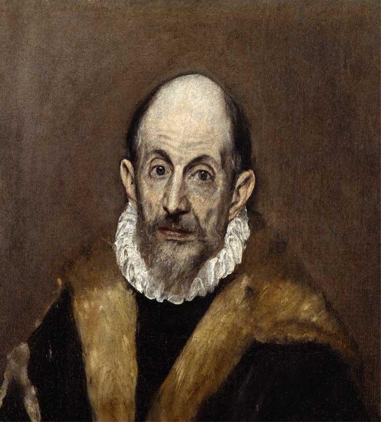 (احتمالا سلف پرتره ال گرکو) پرتره مرد