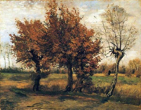 پاییز با چهار درخت 1885