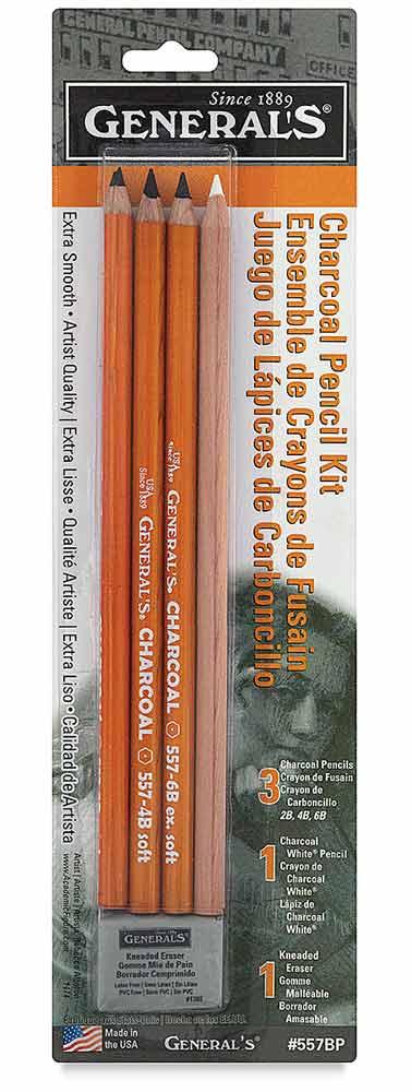 یک ست مداد ذغالی جنرال