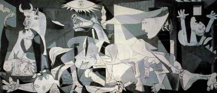 تابلوی گرنیکای پیکاسو در سبک کوبیسم