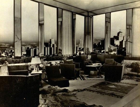 طراحی یک دفتر کاری 1929 ژان مایکل فرانک طراح دکوراسیون فرانسوی