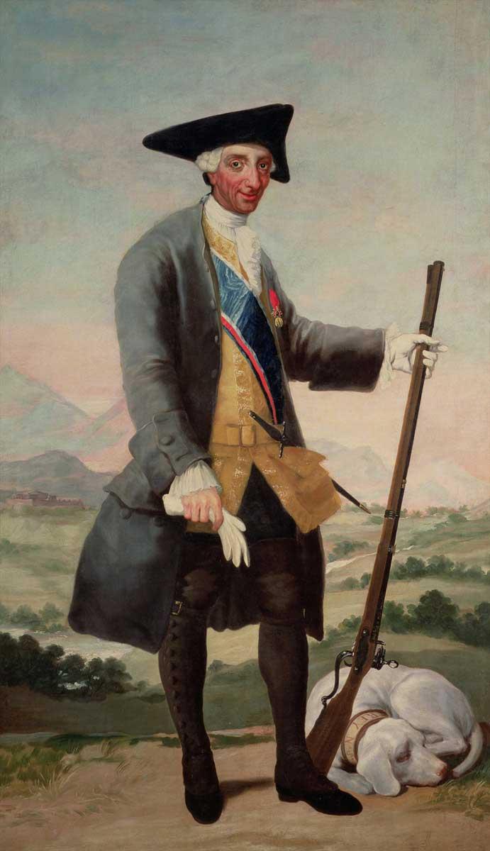 شاه چارلز در لباس شکارچی