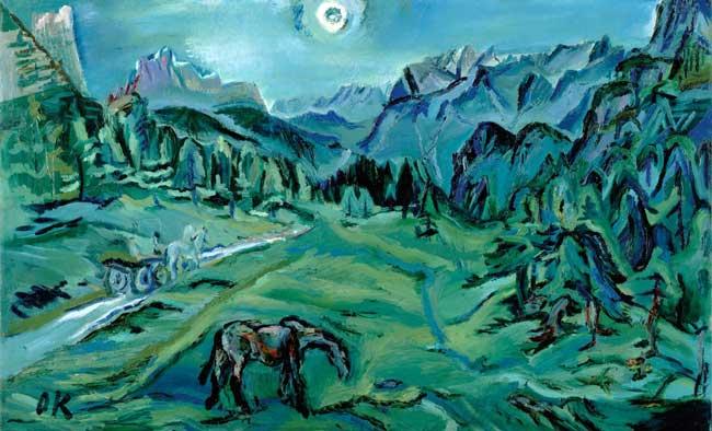 نقاشی منظره از کوکوشکا