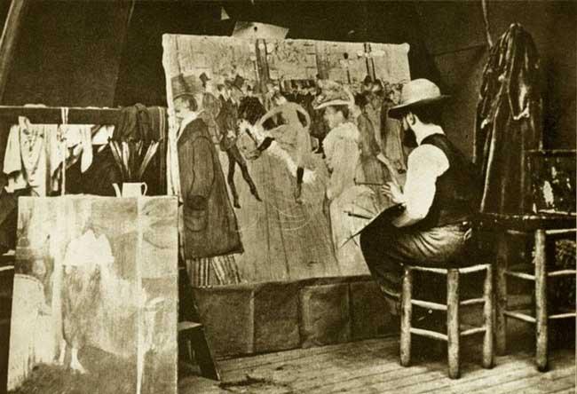 تولوز لوترک در استودیوی شخصی