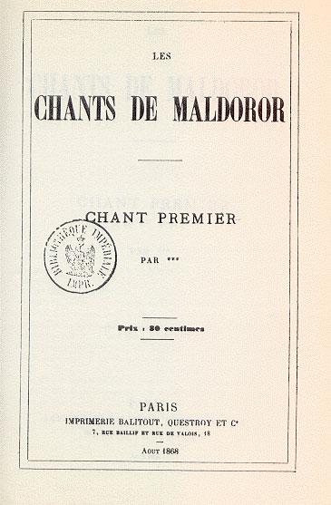 کتاب نغمههای مالدورور