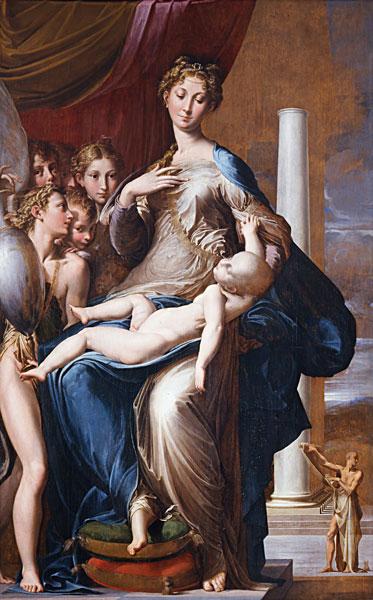 مریم گردن بلند اثر پارمیجانینو یکی از مشهور ترین آثار سبک منریسم
