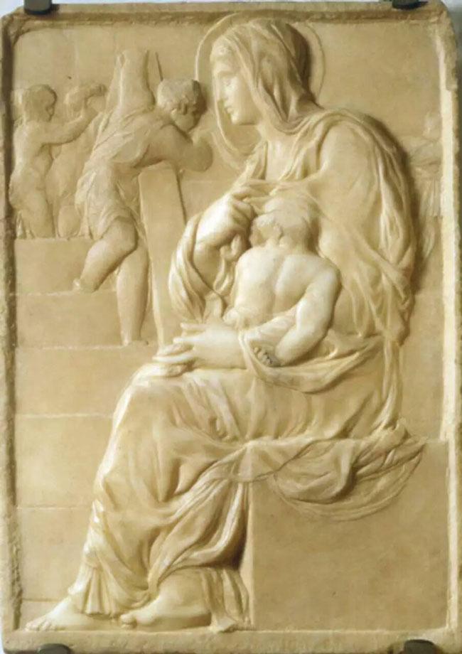 مریم بر روی پله ها حدود 1491
