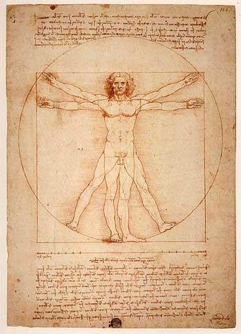 مرد ویترویوسی  که یکی از نمادهای تناسبات فیگور انسان در جهان